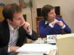 Die Juroren Jürgen Öhlinger und Annika Schmitz bei der Arbeit